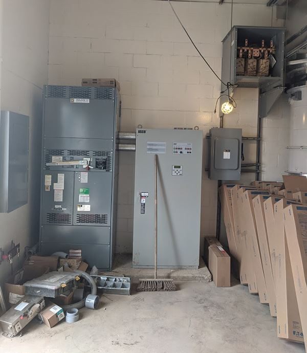 Electrical panels inside a room