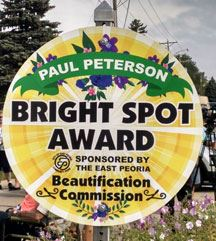 Paul Peterson Bright Spot Award Sign