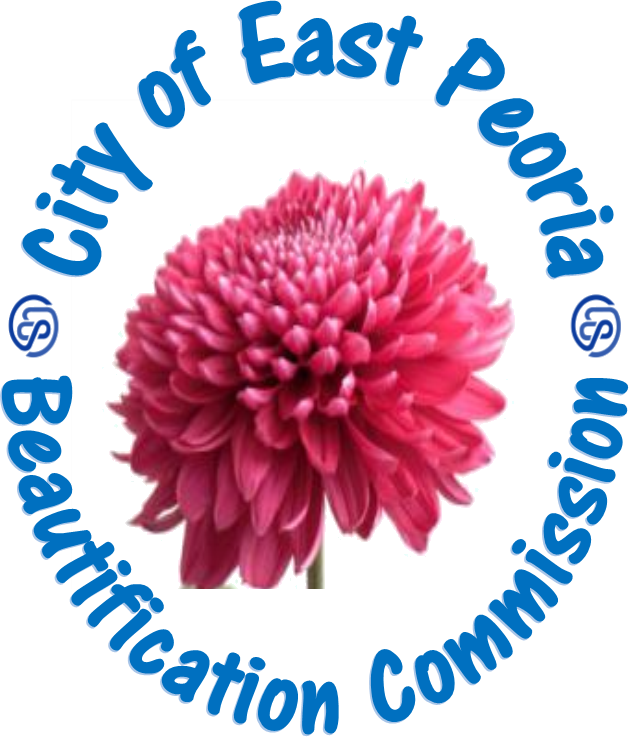 Beautification Commission with a purple flower inside a circle